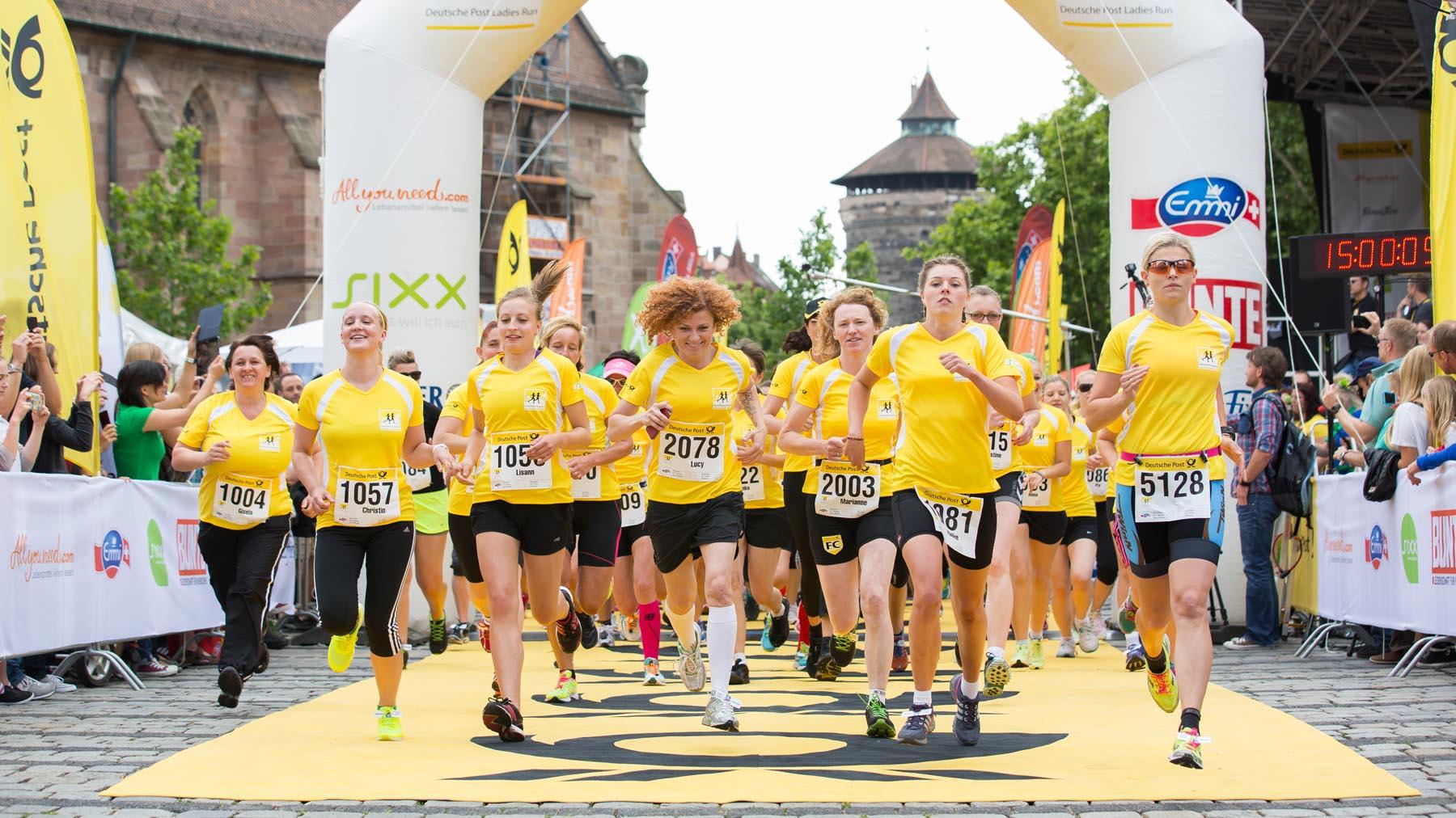 Die Bilder vom Deutsche Post Ladies-Run in Nürnberg
